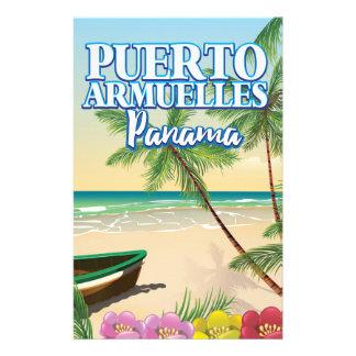 Papelaria Poster de viagens da praia de Puerto Armuelles