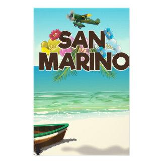 Papelaria Poster de viagens da praia de San Marino
