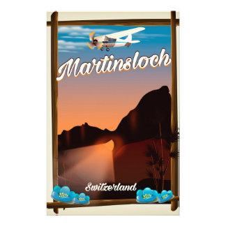 Papelaria Poster de viagens da suiça de Martinsloch