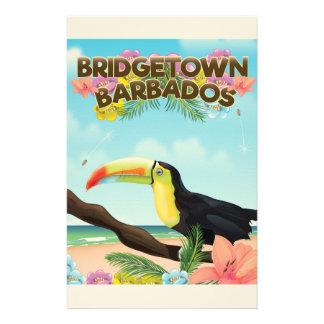 Papelaria Poster de viagens de Bridgetown Barbados Toucan