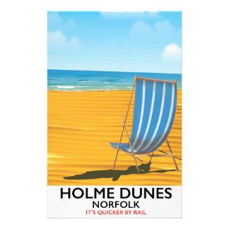 Papelaria Poster de viagens de Norfolk das dunas de Holme