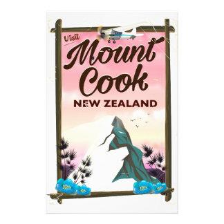 Papelaria Poster de viagens de Nova Zelândia do cozinheiro