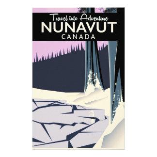 Papelaria Poster de viagens de Nunavut Canadá