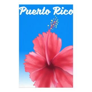 Papelaria Poster de viagens de Puerto Rico Flor de maga