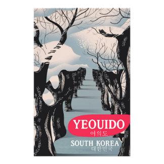 Papelaria Poster de viagens de Yeouido Coreia do Sul