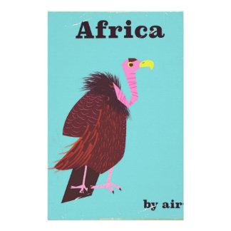 Papelaria Poster de viagens do ar do vintage do abutre de