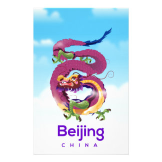 Papelaria Poster de viagens do dragão de Beijing China