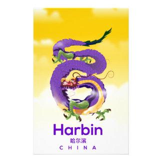 Papelaria Poster de viagens do dragão de Harbin China