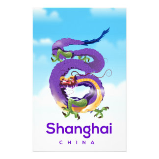 Papelaria Poster de viagens do dragão de Shanghai China