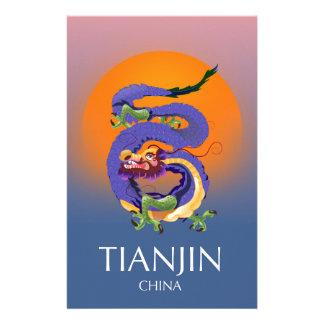Papelaria Poster de viagens do dragão de Tianjin China