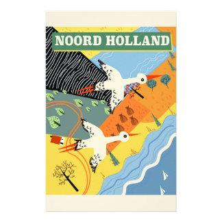 Papelaria Poster de viagens do estilo do vintage de Noord