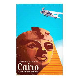 Papelaria Poster de viagens do estilo do vintage do Cairo
