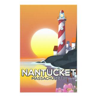 Papelaria Poster de viagens do farol de Nantucket