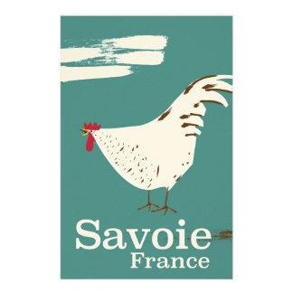 Papelaria Poster de viagens do galo novo de Sabóia France