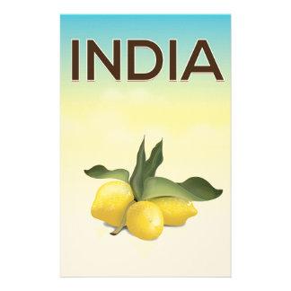 Papelaria Poster de viagens do limão de India