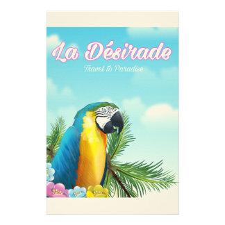 Papelaria Poster de viagens do papagaio de Désirade do La