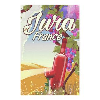 Papelaria Poster de viagens do vinhedo de Jura France