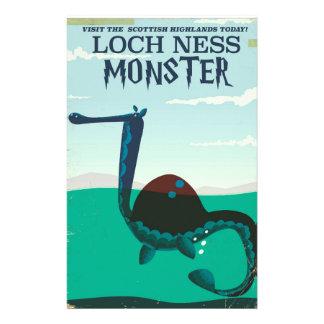 Papelaria Poster de viagens engraçado do monstro de Loch