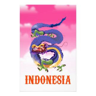 Papelaria Poster de viagens retro do dragão de Indonésia