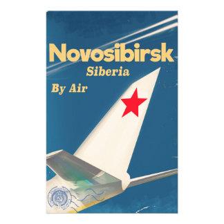 Papelaria Poster do vôo de Novosibirsk Sibéria União