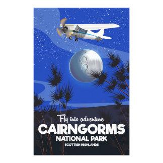 Papelaria Poster escocês do vôo de Cairngorms das montanhas