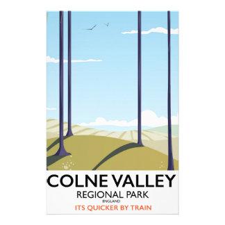Papelaria Poster regional do trilho de Inglaterra do parque