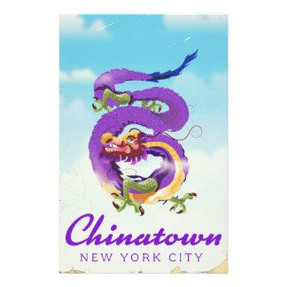 Papelaria Poster vintage da Nova Iorque de Chinatown