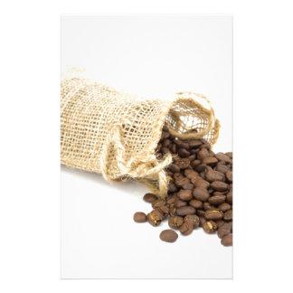 Papelaria Pouco sackcloth com feijões de café