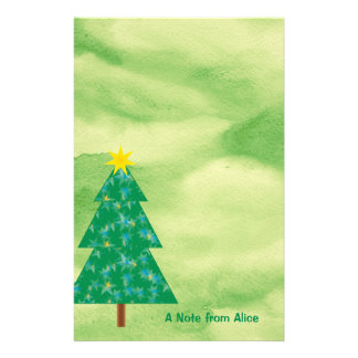 Papelaria Presente adorável da árvore de Natal |