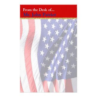 Papelaria Presente patriótico americano da bandeira   para