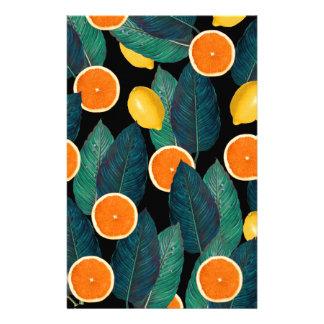 Papelaria preto dos limões e das laranjas