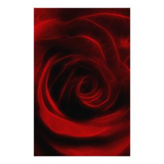 Papelaria Profundidade da rosa vermelha do amor
