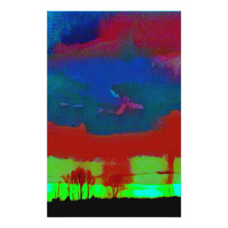 Papelaria Queda colorida céu abstrato tonificado do