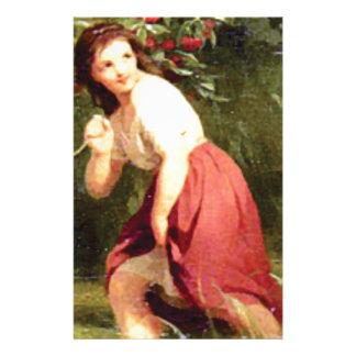Papelaria ramo da cereja da posse das meninas