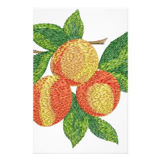 Papelaria ramo do pêssego, imitação do bordado