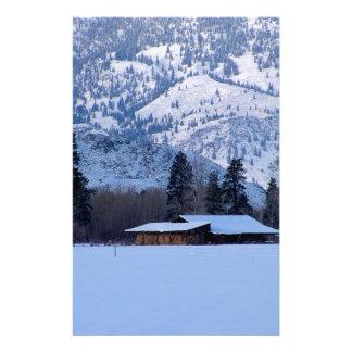 Papelaria Rancho em Canadá ocidental, inverno