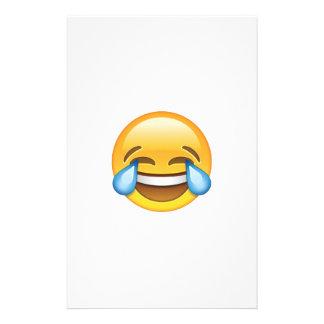 Papelaria Rasgos de grito de riso do emoji da alegria