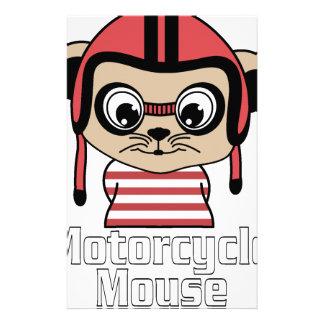 Papelaria Rato da motocicleta, design do vintage dos