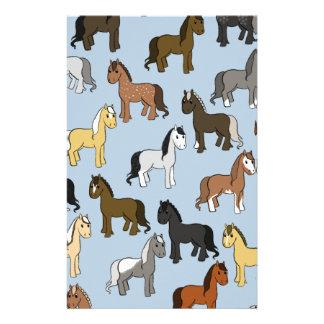 Papelaria Rebanho bonito dos cavalos