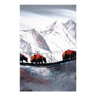 Papelaria Rebanho de iaques Himalaya da montanha