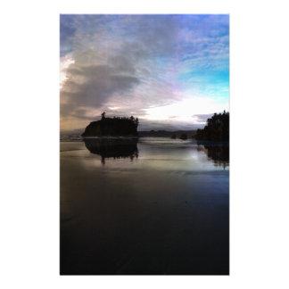 Papelaria Reflexão do por do sol da praia do rubi