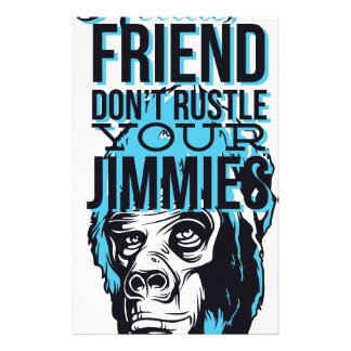 Papelaria relaxe amigos não rustle, para monkey