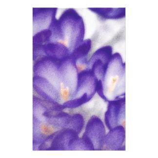 Papelaria Remendo da flor do açafrão da lavanda