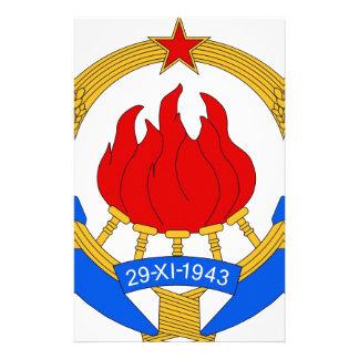 Papelaria República federal socialista do emblema de