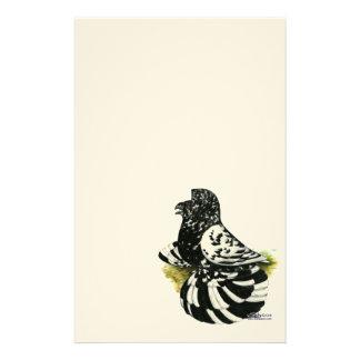 Papelaria Respingo escuro do pombo da trompetista