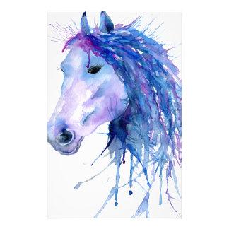 Papelaria Retrato abstrato do cavalo da aguarela