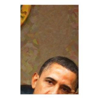 Papelaria Retrato abstrato do presidente Barack Obama 11