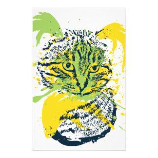 Papelaria Retrato bonito do gato do Grunge