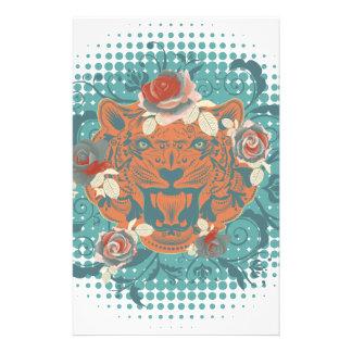 Papelaria Retrato decorativo 3 do tigre