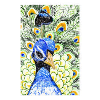 Papelaria Retrato do pavão